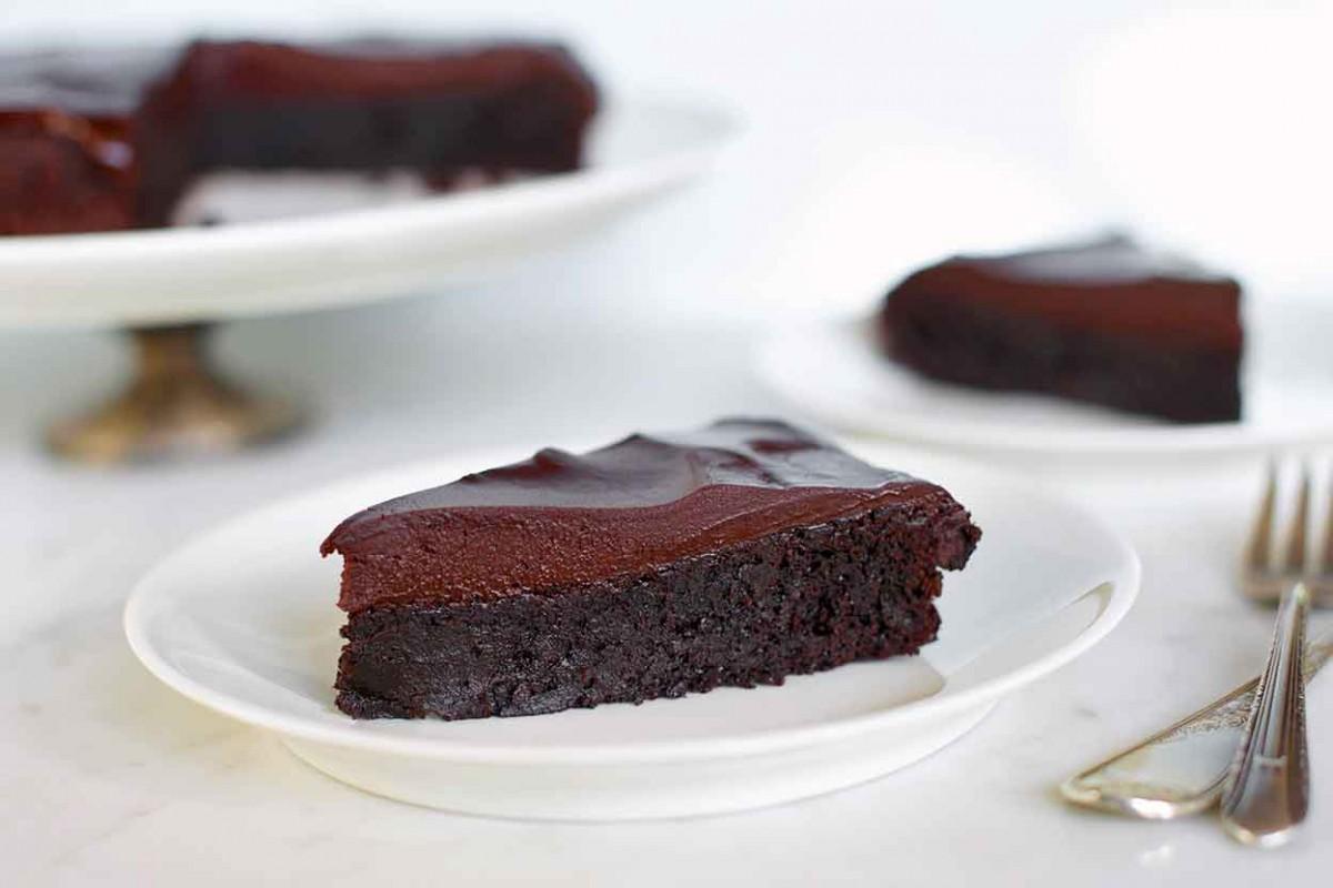 Bizcocho de chocolate negro sin gluten