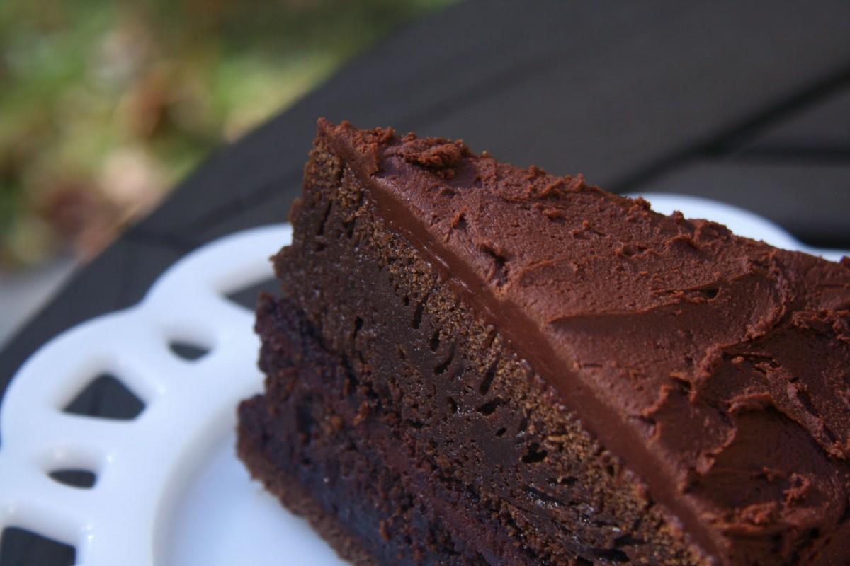 Bizcocho de chocolate sin mantequilla